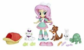 Набор с мини-куклой My Little Pony Equestria Girls Спа для питомцев Флаттершай, 12 см, B9495
