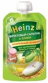 Пюре Heinz Фруктовый салатик и злаки (с 6 месяцев) 90 г, 1 шт.