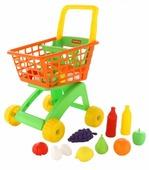 Тележка для покупок Полесье с продуктами (61904)