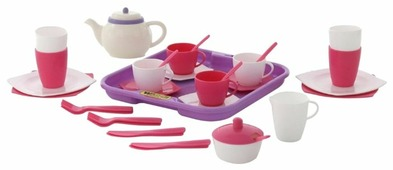 """Набор посуды Полесье """"Алиса"""" с подносом на 4 персоны 58973"""
