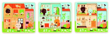 Рамка-вкладыш DJECO Дом зайцев (01480)