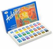 ГАММА Акварельные краски художественные Студия 24 цвета, в кюветах (215001)