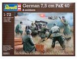 Сборная модель Revell German 7,5 cm PaK40 & soldiers (02531) 1:72