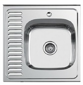 Накладная кухонная мойка Ledeme L66060-6R 60х60см нержавеющая сталь