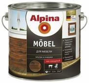 Лак Alpina Mobel шелковисто-матовый (2.5 л)