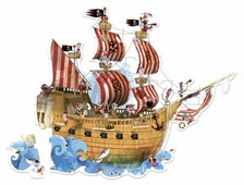 Пазл Janod Пиратский корабль (J02819), 39 дет.