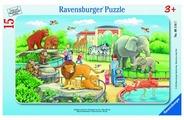 Пазл Ravensburger Прогулка по зоопарку (06116), 15 дет.