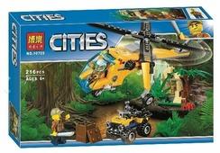 Конструктор BELA Cities 10709 Грузовой вертолет исследователей джунглей