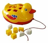 Каталка-игрушка Русский стиль Утенок (65620)