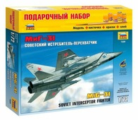 Сборная модель ZVEZDA Советский истребитель-перехватчик МиГ-31 (7229PN) 1:72