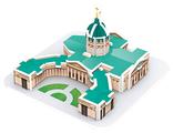 3D-пазл IQ Puzzle 3D Казанский Собор (17027), 18 дет.