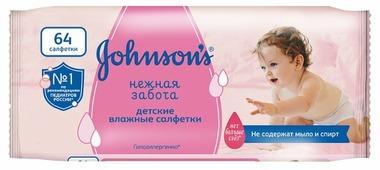 Johnson's Baby Влажные салфетки Johnson s Baby Нежная забота запасной блок