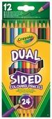 Crayola Цветные карандаши двусторонние 12 шт, 24 цвета (68-6100)
