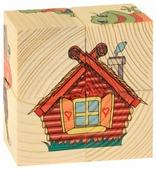 Кубики-пазлы Развивающие Деревянные Игрушки Теремок Д505а
