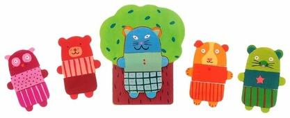 Рамка-вкладыш DJECO Деревянные зверюшки (01681), 15 дет.