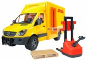 Набор техники Bruder Фургон DHL с погрузчиком Mercedes-Benz Sprinter (02-534) 1:16 45.5 см