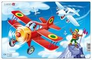 Рамка-вкладыш Larsen Самолеты в ассортименте (U7), 13 дет.