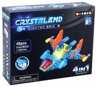 Конструктор Crystaland Lighted Brix SHG001 Самолет 4 в 1