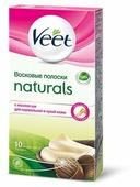 Veet Восковые полоски Naturals с маслом ши для нормальной и сухой кожи