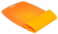 Коврик Fellowes SILICONE WRIST ROCKER AND MOUSE PAD ORANGE FS-93624