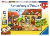 Набор пазлов Ravensburger Работа на ферме 2 в 1 (07560)