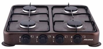 Газовая плита DELTA АКСИНЬЯ КС-104 коричневая