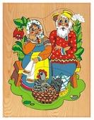 Рамка-вкладыш Чудо-Дерево Курочка Ряба (D104), 7 дет.