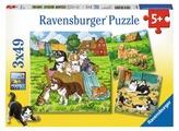 Набор пазлов Ravensburger Котята и щенки 3 в 1 (08002)