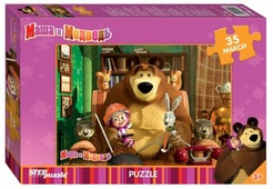Пазл Step puzzle Анимаккорд Маша и Медведь (91211), 35 дет.