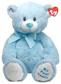 Мягкая игрушка TY Classic Медвежонок My first Teddy голубой 20 см