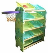 Стеллаж FAMILY с баскетбольным кольцом 117х33х103 см (F-825)