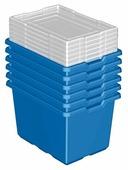 Набор для хранения LEGO XL Blue Storage Bin 6 штук (9840)
