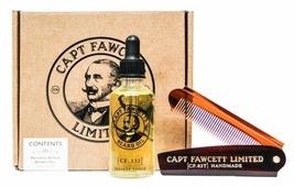 Captain Fawcett Набор для бороды и усов Private Stock Beard Oil & Folding Pocket Beard Comb