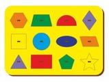 Рамка-вкладыш Woodland Монтессори геометрия (082101), 12 дет.
