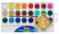 JOVI Акварельные краски 24 цвета с кисточкой (800/24)