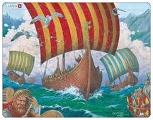 Рамка-вкладыш Larsen Корабли викингов (FI6), 64 дет.