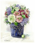 Цветной Набор алмазной вышивки Сиреневая нежность (LG028) 40х50 см