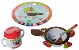 Комплект посуды Ebulobo Волчонок (04EB0015)