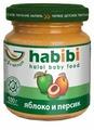 Пюре Habibi яблоко и персик (с 5 месяцев) 100 г, 1 шт