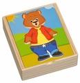 Рамка-вкладыш Мир деревянных игрушек Медвежонок Миша (Д181б), 18 дет.