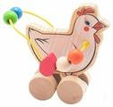 Каталка-игрушка Мир деревянных игрушек Курица (Д363)