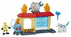 Трансформер Playskool Transformers Кейд Бернс. Гараж Гриффин Рока Игровой набор (Трансформеры-спасатели) B4964