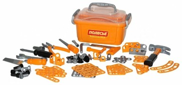Полесье Набор инструментов 10, 166 элементов (в контейнере) (53503)