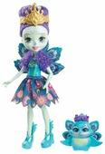 Кукла Enchantimals Пэттер Павлина с любимой зверюшкой, 15 см, DYC76