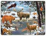 Рамка-вкладыш Larsen Животные Северной Европы (FH32), 54 дет.