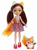 Кукла Enchantimals Фелисити Лис с любимой зверюшкой, 15 см, DVH89