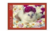 Пазл Рыжий кот Сиамский котёнок (ГИ500-7906), 500 дет.
