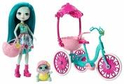 Набор с куклой Enchantimals Прогулка на велосипеде Тайли Черепаша, 15 см, FCC65