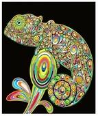 Цветной Набор алмазной вышивки Хамелеон (LE024) 30x40 см