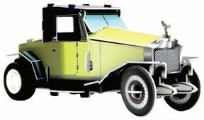 3D-пазл Pilotage 3D Машина классическая желтая заводной (RC39698)